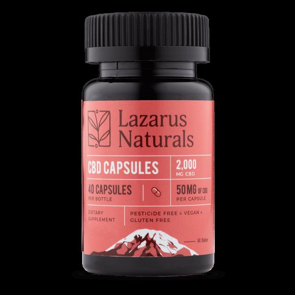 Lazarus Naturals 50mg Full Spectrum CBD Capsules